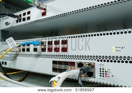 Technology Center With Fiber Optic Pon Equipment