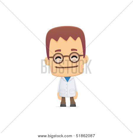 scientist. in various poses