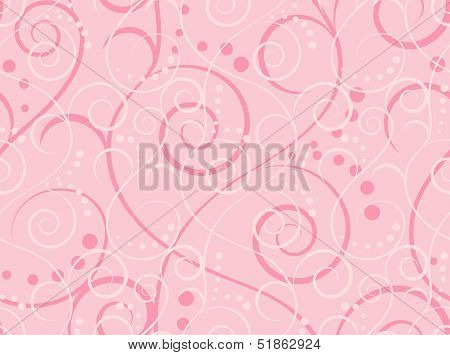 Pink seamless pattern, vector