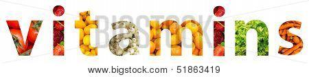 Vitamins Word Concept