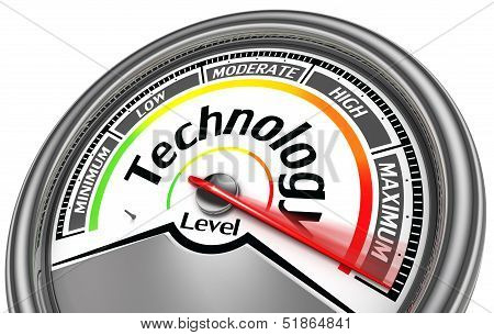 Technology Level Meter Indicate Maximum