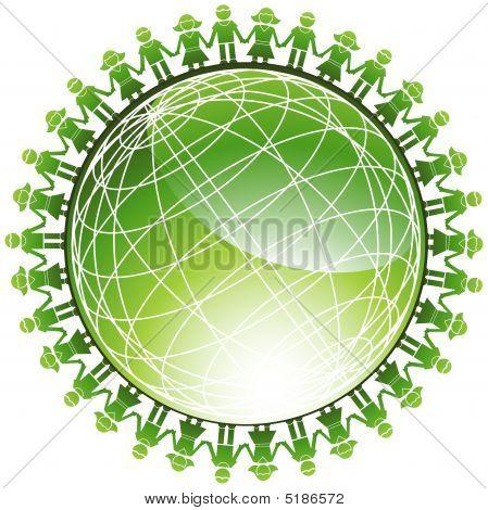 Community Green Globe