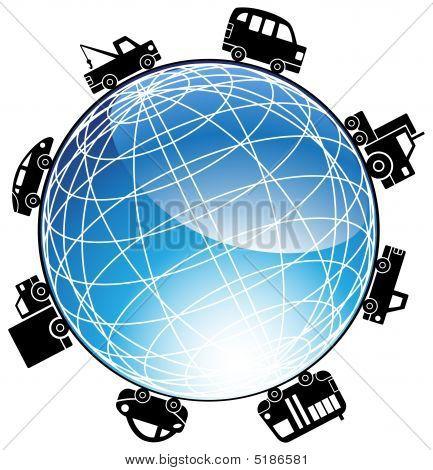 Cars Driving Around The World