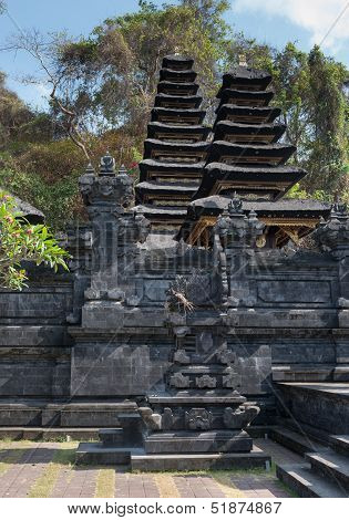 Traditional Temple Balinese Many Tier Palm Roof