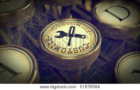 Customize Key on Grunge Typewriter.