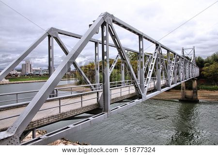 Truss Bridge In Japan
