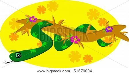 Snake Around a Branch