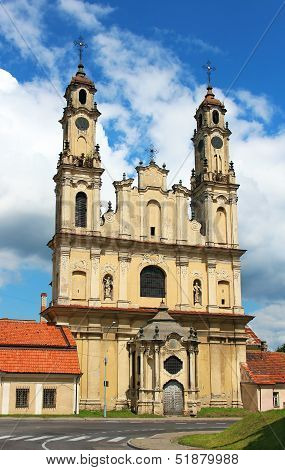Church Of The Ascension In Vilnius
