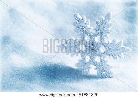 Fundo de Natal ou inverno com floco de neve