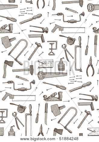 tools, seamless pattern