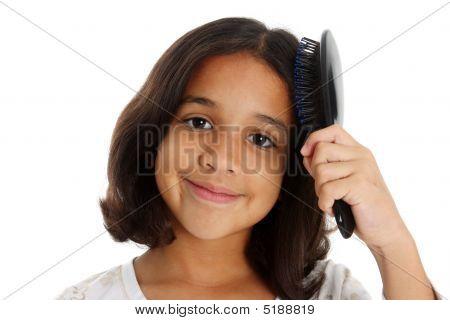 Mädchen Pinsel Haar