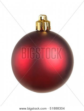 Bright christmas ball isolated on the white