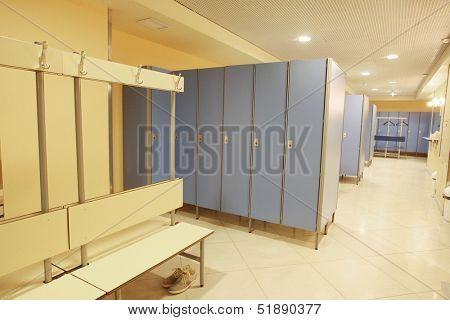 Interior of a checkroom
