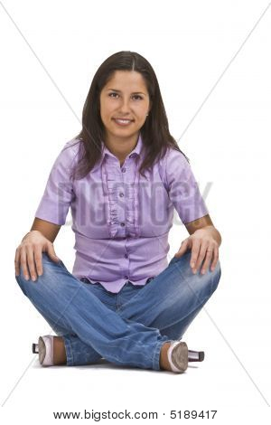 Woman Sitting Crossed Legs