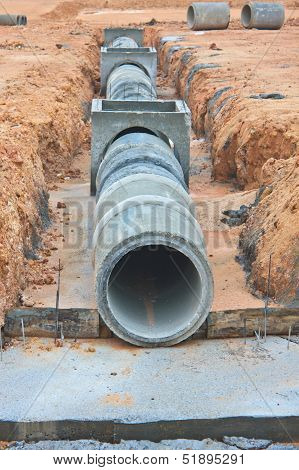 The Concrete drainage tank