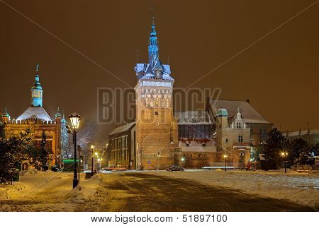 Winter Night Cityscape