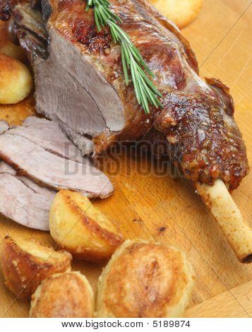 Carving Roast Leg Of Lamb