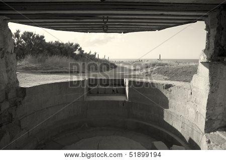Bunker In The Pointe Du Hoc, Cricqueville-en-bessin, Normandie, France