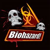 picture of biohazard symbol  - Biohazard symbol - JPG