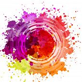pic of dab  - Watercolor Blot Abstract Background - JPG