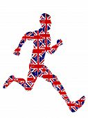 Постер, плакат: Runner Jigsaw For 2012 Uk Olympics vector File