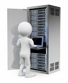 image of racks  - 3d white people - JPG