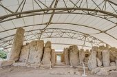 stock photo of megaliths  - Hagar Qim megalithic temple complex one of the most ancient religious sites on Earth in Malta - JPG