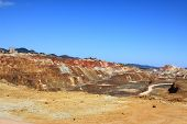 stock photo of open-pit mine  - Iron pyrite - JPG