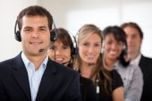 picture of personal assistant  - Customer services representative team in an office - JPG