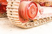 stock photo of workhorses  - Caterpillars of the tractor - JPG