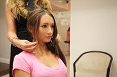 image of beauty parlour  - Girl in a beauty parlour - JPG