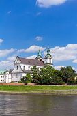 picture of stanislaus church  - view on skalka church in old town of cracow in poland
