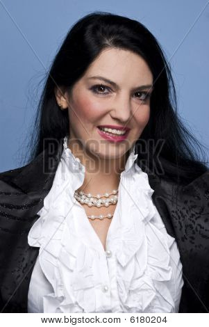 Smiling Elegant Woman