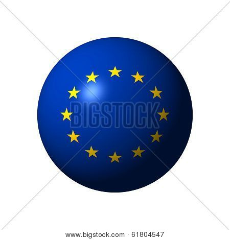 Sphere with flag of EU