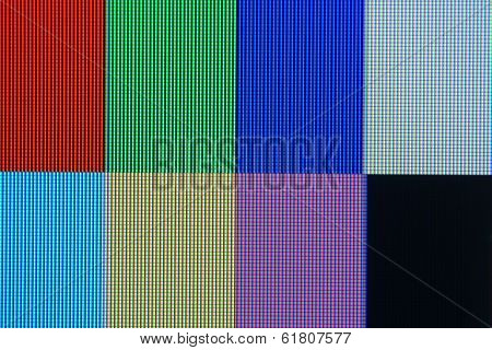 Rgb And Cmyk Colors On Lcd Display