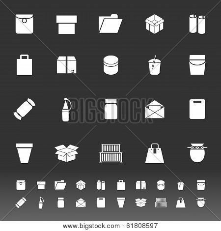 Package Icons On Gray Background