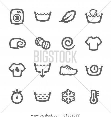 Washing machine icons
