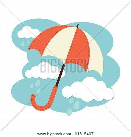 Umbrellas and Clouds