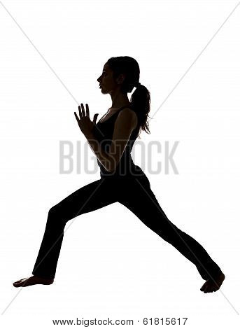 Woman Doing Namaste, Silhouette