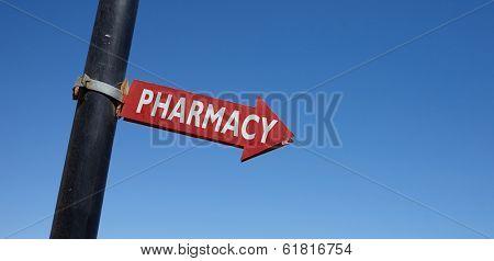 Pharmacy road sign
