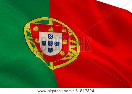 Portugese flag waving