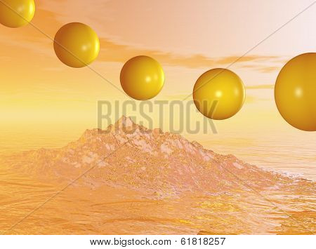 Flying Spheres