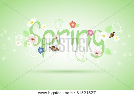 Vector Abstract Spring Background