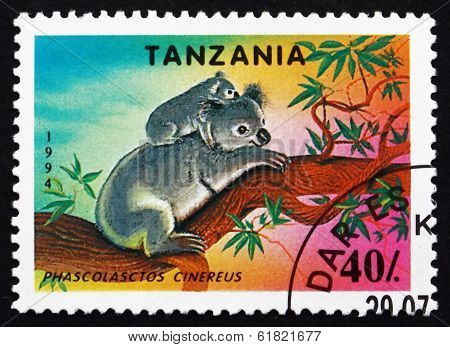 Postage Stamp Tanzania 1994 Koala, Animal