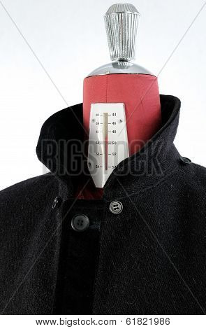 Woolen black coat