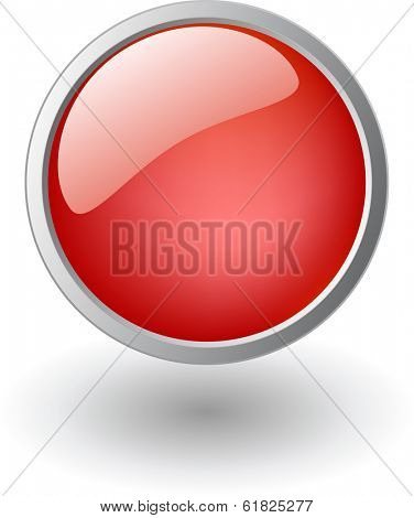 red shiny ball, button sign