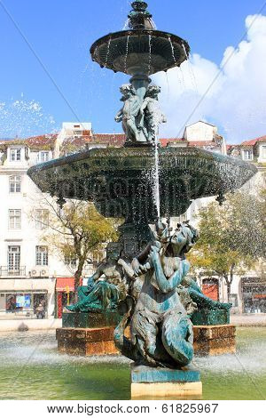 Rossio Square Fountain