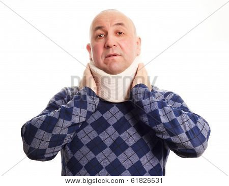 Man with neck troubles