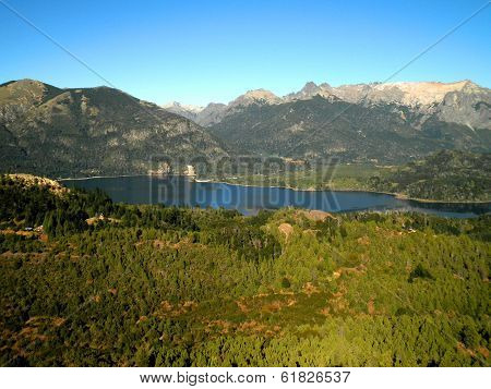Aerial View Patagonia Woods