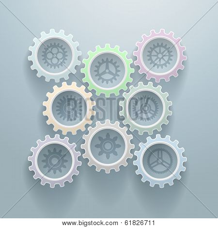 Eight Gears Decorative Background
